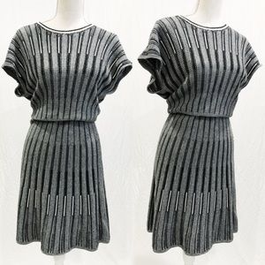 FRENCH CONNECTION Greyscale Knit Dress